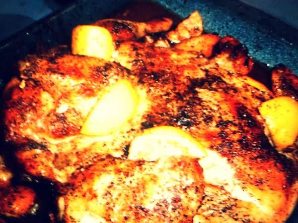 Baked Lemon Chicken With Pepper Recipe