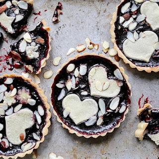 Individual Blackberry Jam and Almond Tarts