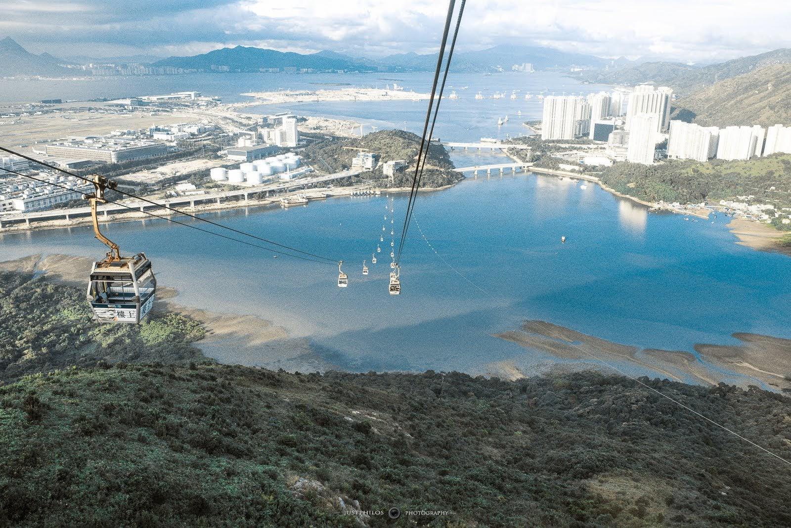 纜車的高低差和跨海的景色讓人非常的震撼。