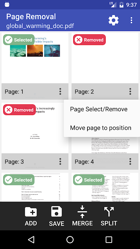 PDF Page Extractor and Removal screenshots