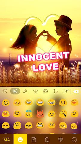 android Innocent Love Emoji Keyboard Screenshot 2