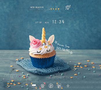 Cute Wallpaper Unicorn CupcakeTheme - náhled