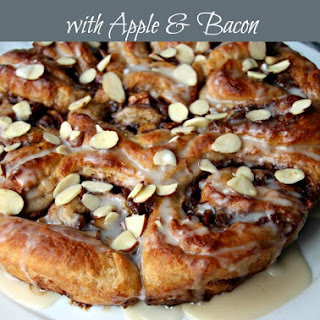 Easy Apple and Bacon Cinnamon Roll