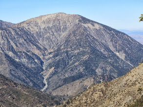 Photo: Zoomed-in view west toward massive Mt. Baden-Powell (9399')