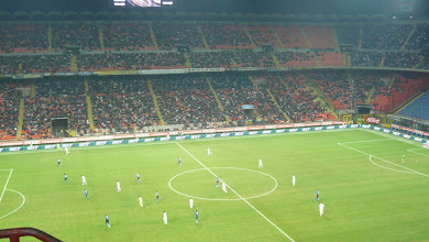 Photo: Football in Milan. 50 mins by car.