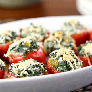 Spinach Stuffed Tomatoes.