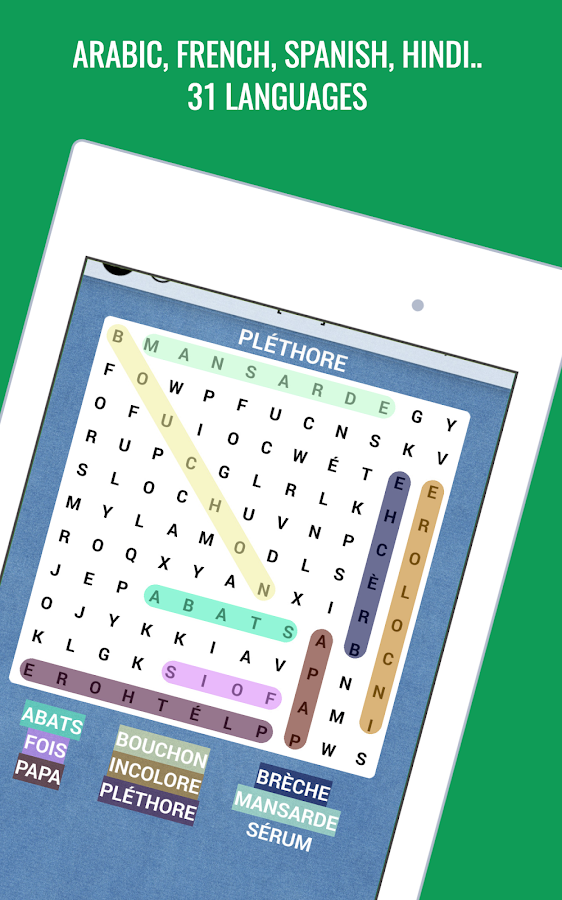 Word Search Multilingual - Crossword Puzzle- screenshot
