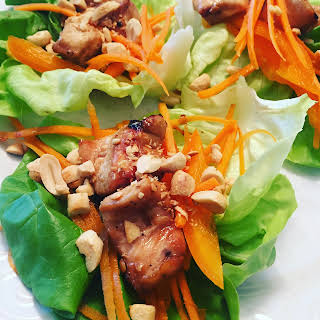 Grilled Chicken Lettuce Wraps.