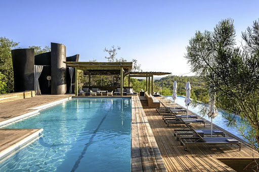 Tranquil havens: Poolside at Singita's Lebombo Lodge. Picture: SUPPLIED