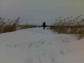 Photo: 11 jan. Opweg naar Baard over fietspad?