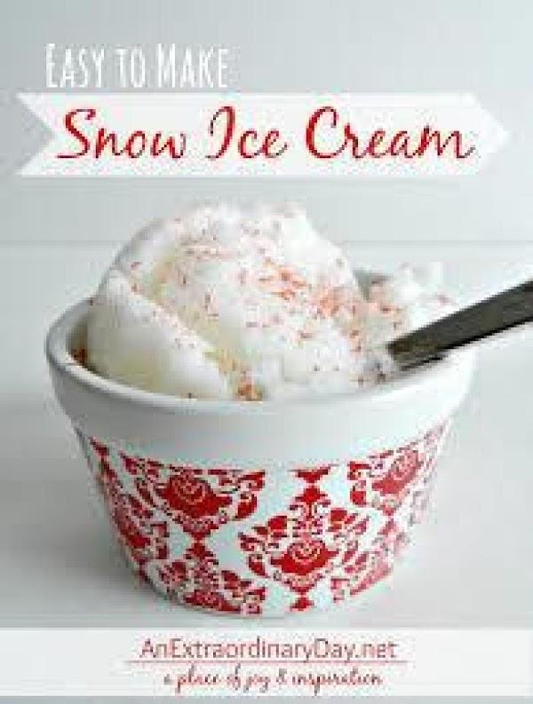Spring Snow-cream Recipe