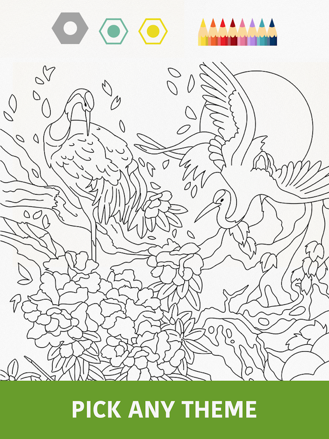 Coloring Book Games For Adults : Colorfy Coloring Book Free Android Apps on Google Play