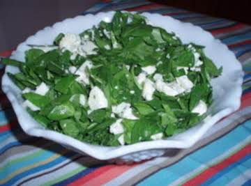 Cauliflower and Spinach Salad