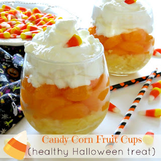 Candy Corn Fruit Cups (Healthy Halloween Treat).