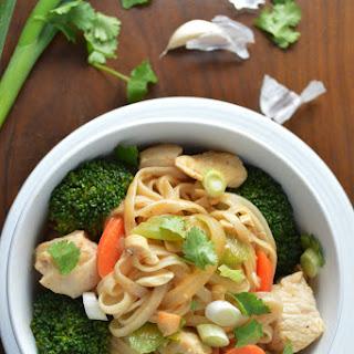 Thai Chicken & Veggie Noodle Bowl.