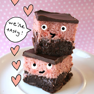 Pretty in Pink Layered Brownies