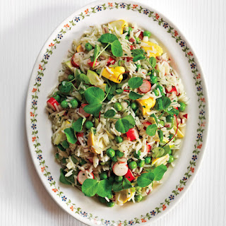 Basmati Rice with Summer Vegetable Salad.