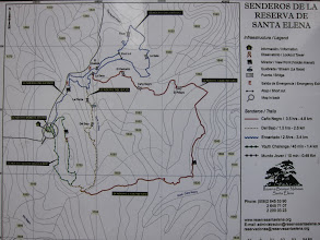 Photo: Santa Elena trail map