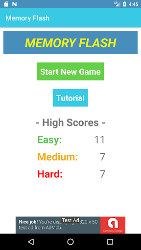 Memory Flash - Fast Paced Number Memory Game 1.0.7 screenshots 1
