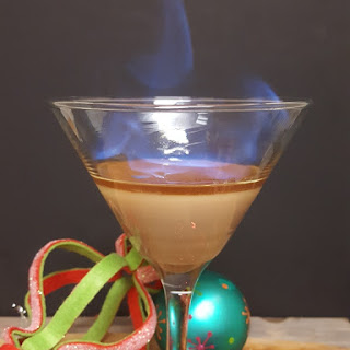 Flaming Gingerbread Martini