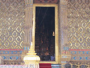 Photo: This is where the Emerald Buddha is. It was closed to the public by the time I got there.