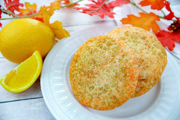 Orange Spice Cookies On A Plate.