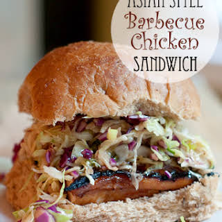 Asian Style Barbecue Chicken Sandwich.