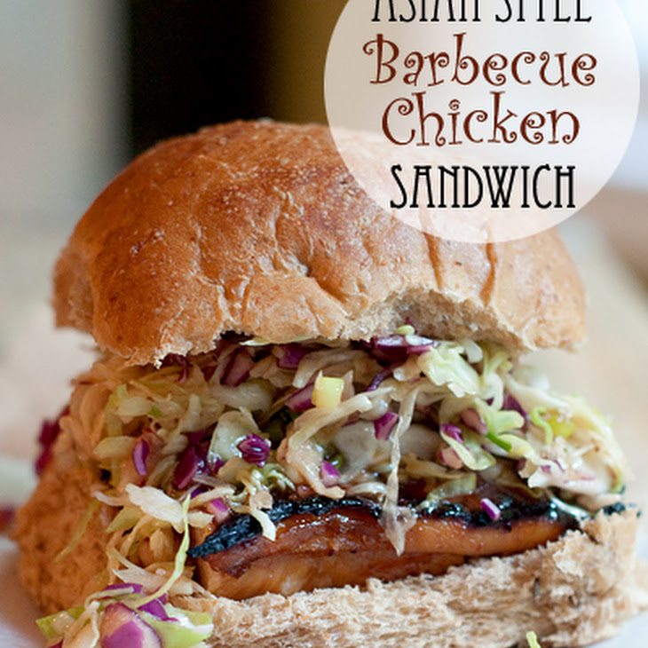 Asian Style Barbecue Chicken Sandwich