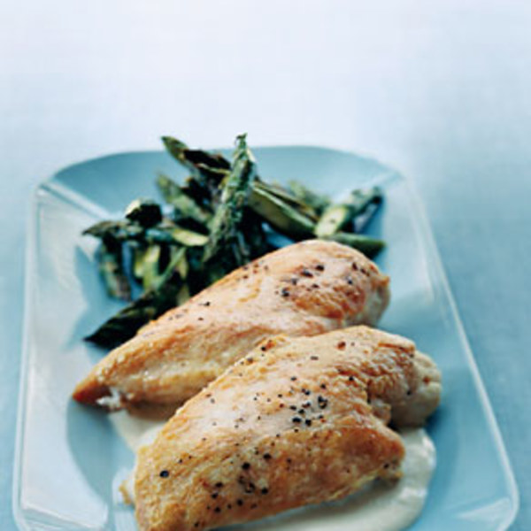 Roast Chicken With Asparagus And Tahini Sauce Recipes — Dishmaps