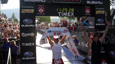 Photo: TMT athletes JP and VCD 2011 Ironman Canada dual finish. Amazing!