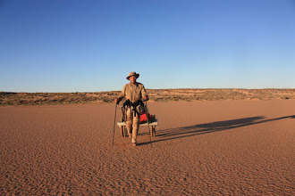 Photo: Simpson Desert trek. Australia 2008. First North - South unsupported crossing on foot passing through the geographical center of the desert.