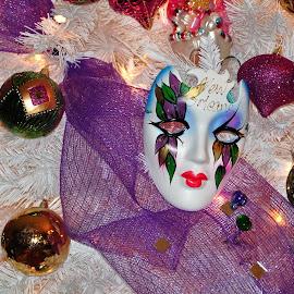 Mardi Gras tree!  by S.  Robert - Artistic Objects Other Objects ( mardi gras, tree, new orleans )