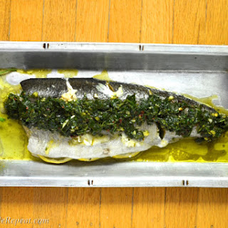 Baked Whole Chimichurri Trout