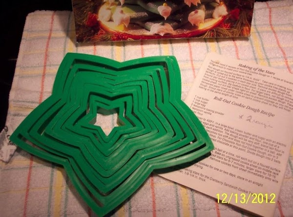 COOKIE cutters.Cut out cardboard stars..use to cut out stars of cookie dough....Bake.Start your tree,the...