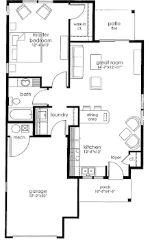 Go to 1S - One Bed House Floorplan page.