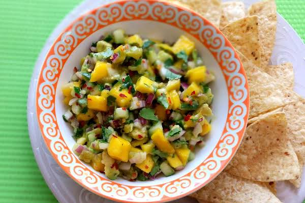 Mango, Avocado, And Cucumber Salsa