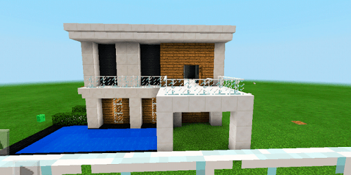 Three modern houses. Map for MCPE Apps (apk) baixar gratuito para Android/PC/Windows screenshot