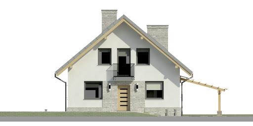 Dom przy Cyprysowej 27 N - Elewacja przednia