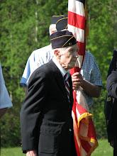 Photo: Gordon and the color guard at Bob Cole's burial service in Danville Green cemetery.
