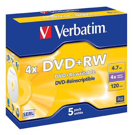 DVD+RW Verbatim 4.7GB 5/fp
