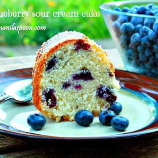 Blueberry Sour Cream Cake