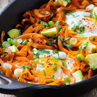 Chipotle Spiced Sweet Potato Noodles & Eggs