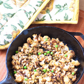 Stirfried Cauliflower With Peas