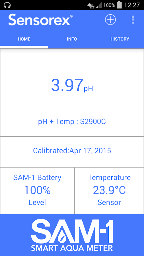 SAM-1 Smart Aqua Meter- screenshot