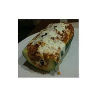 Quinoa-Stuffed Zucchini.