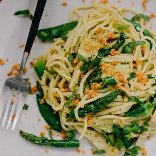 Spring Artichoke Pesto Pasta