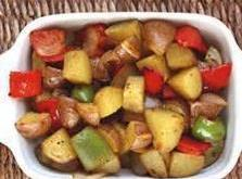Italian Sausage W/ Potatoes & Peppers Recipe