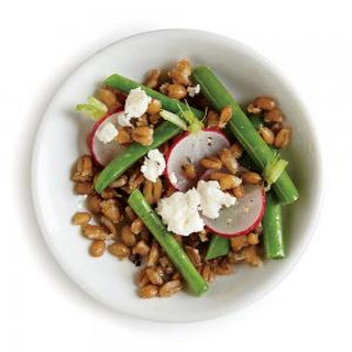 Farro Salad with Green Beans, Radishes, and Feta Recipe
