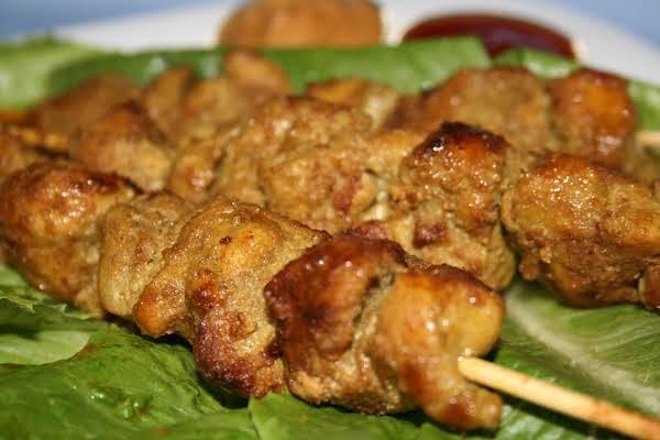 Chicken Satay W/ Peanut Sauce &  Cucumber Relish