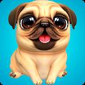 Fun puppy run icon